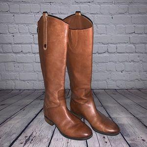 Soft Leather Brown/Cognac boots size 6 Sam Eleman